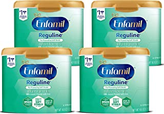 Enfamil Reguline Infant Formula - Designed for Soft, Comfortable Stools - Reusable Powder Tub, 19.5 Oz (Pack of 4)