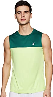 Amazon Brand - Symactive Men's Color Block Regular Fit Sleeveless Sports T-Shirt