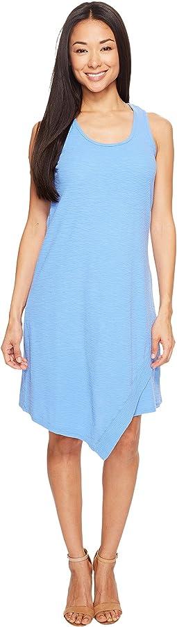 Textured Slub Stripe Tank Dress