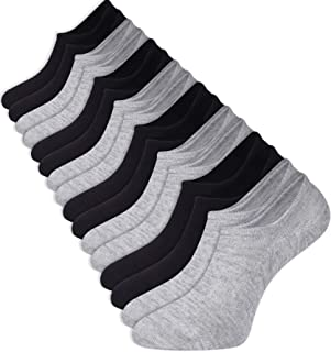 Toes Home, Calcetines de bambú para mujer y hombre, 8 pares antideslizantes de corte bajo en el tobillo, zapatos invisibles