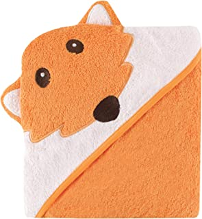 Luvable Friends Unisex Baby Cotton Animal Face Hooded Towel, Fox, One Size