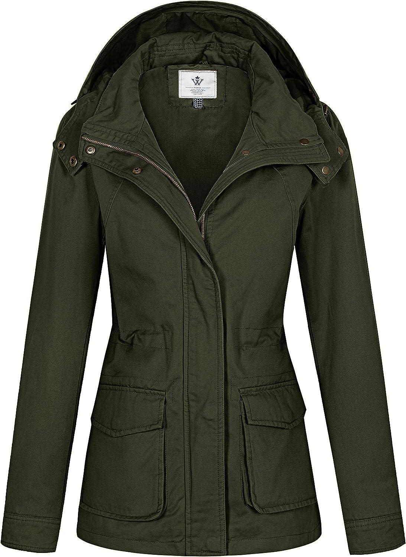 WenVen Women's Anork Translated Soldering Military Style Ca Lightweight Jacket Safari
