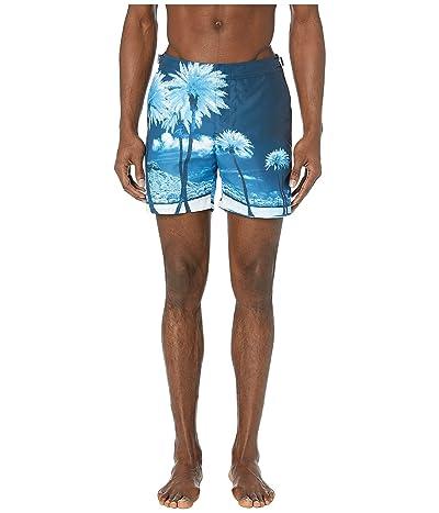 Orlebar Brown Bulldog Photographic Swim Trunk (Blue Palms) Men