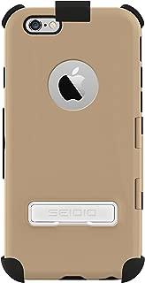 Seidio CAPSA TouchView 手机壳带金属支架和皮套组合适用于 Apple iPhone 6,组合包 - 零售包装 - 金色