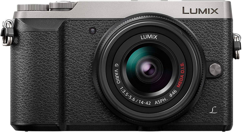 Panasonic Lumix GX80N   Cámara de Fotos híbrida compacta + Lente Lumix 14-42mm (Sensor 4/3 16MP, Doble estabilización, Visor, Pantalla Inclinada, Tacto, AF DFD, vídeo 4K) Silver - Versión Francesa