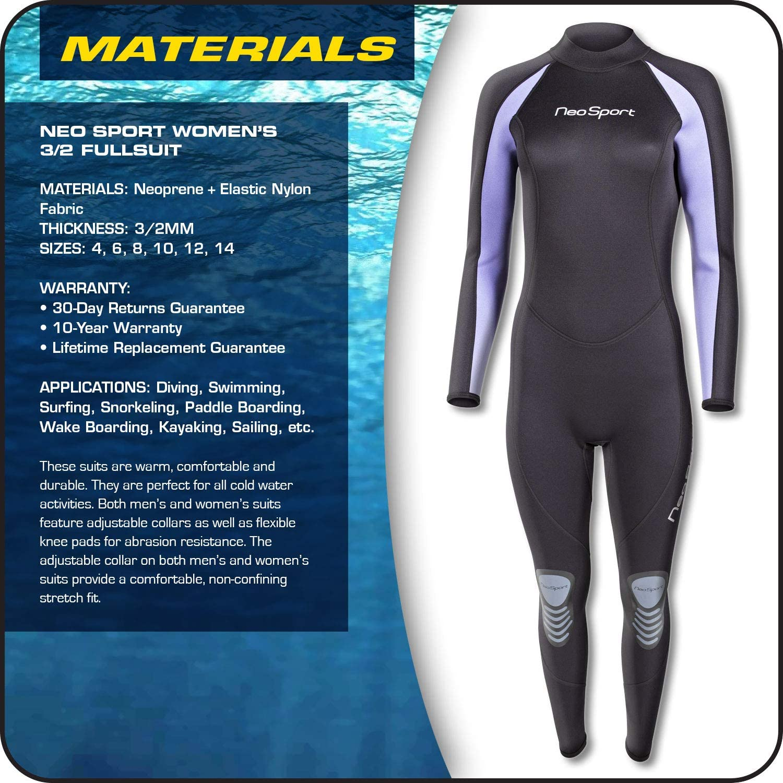 5210 Large Comfort Stretch Series Women/'s 5mm Front Zip Wetsuit