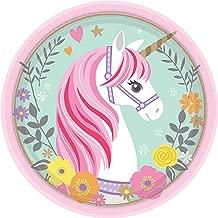 Plates Magical Unicorn Collection Birthday