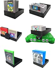 Collector Craft Black Game Organizer Compatible with Xbox One Games, Dust Cover, Cartridge Holder, Xbox