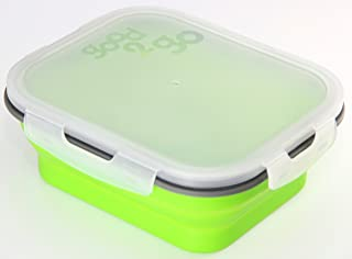 good2go Good 2 Go Rectangle Expandable Container, 1 Liter Green G31003