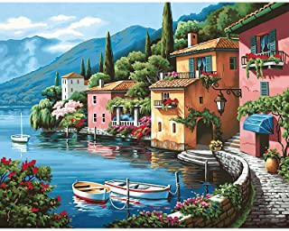CofunKool Puzzle pour Adultes 1000 Pièces Scie Sauteuse Puzzles Lac de Côme Paysage, 70 x 50 cm