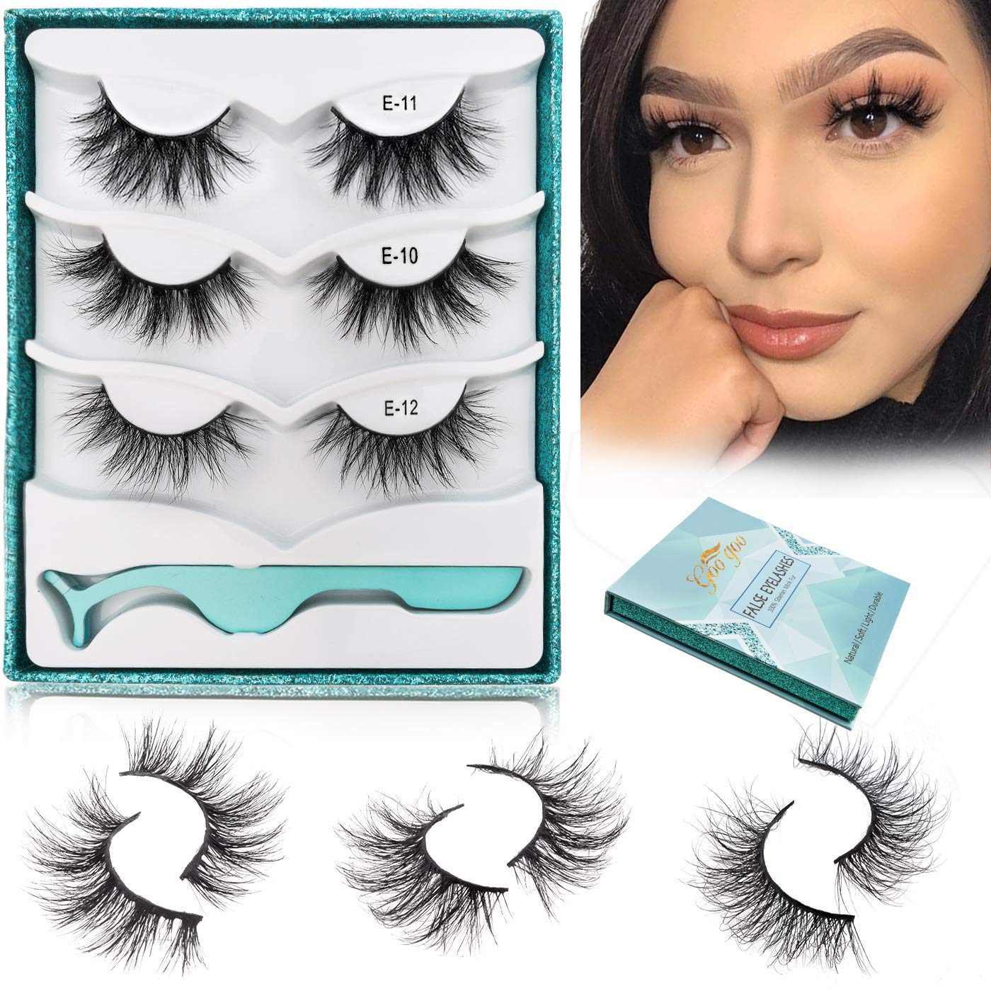 GOO Fake Eyelashes Natural Crossed Mi Cluster Type Discount mail order 3D Daily A surprise price is realized