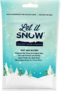 Let it Snow Instant Snow Powder for Slime, Premium Fake Snow Perfect for Cloud Slime Supplies! Made in The USA - Safe and ...
