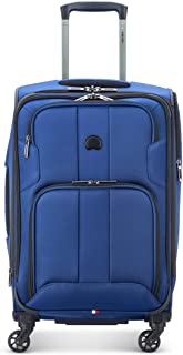 DELSEY Paris Sky Max 2.0 Softside Expandable Luggage with Spinner Wheels, Steel Blue, Carry-on 21 Inch