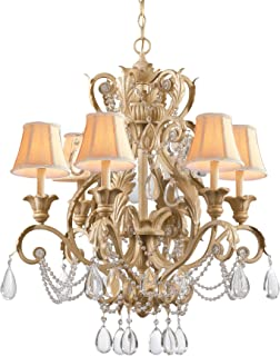 Gold Coast Lighting Rose & Crystal Wall Sconce