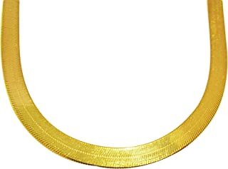 US-Shopsmart 10K Yellow Gold Flexible Herringbone Chain 6 mm(0.23 in) Necklace 16-24 inches