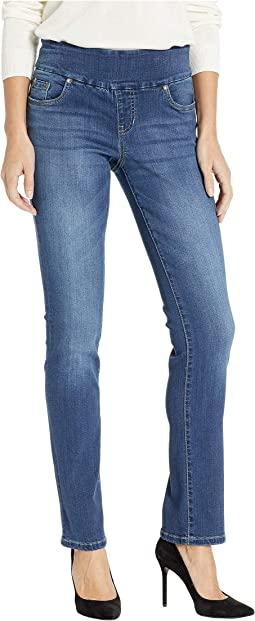 Penny Straight Pull-On Jeans in Dark Wash