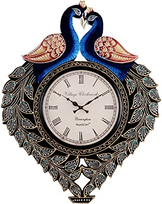 RoyalsCart Peacock Analog Wall Clock, Multi
