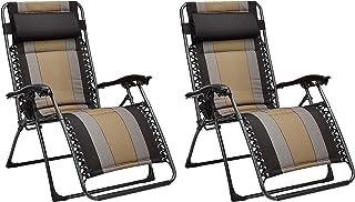 Amazon Basics - Set de 2 sillas acolchadas con gravedad cero