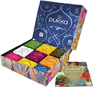 Pukka Coffret Thés et Infusions Sélection, idée cadeau, sélection de thés et d'infusions biologiques et ayurvédiques issus...