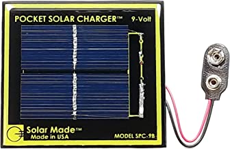 Handy Pocket Solar Charger for 9 Volt Battery