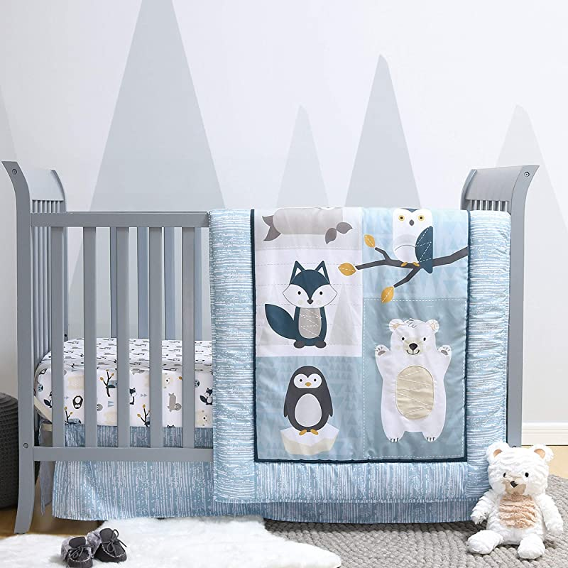 Nordic Wonder 5 Piece Arctic Baby Crib Bedding Set