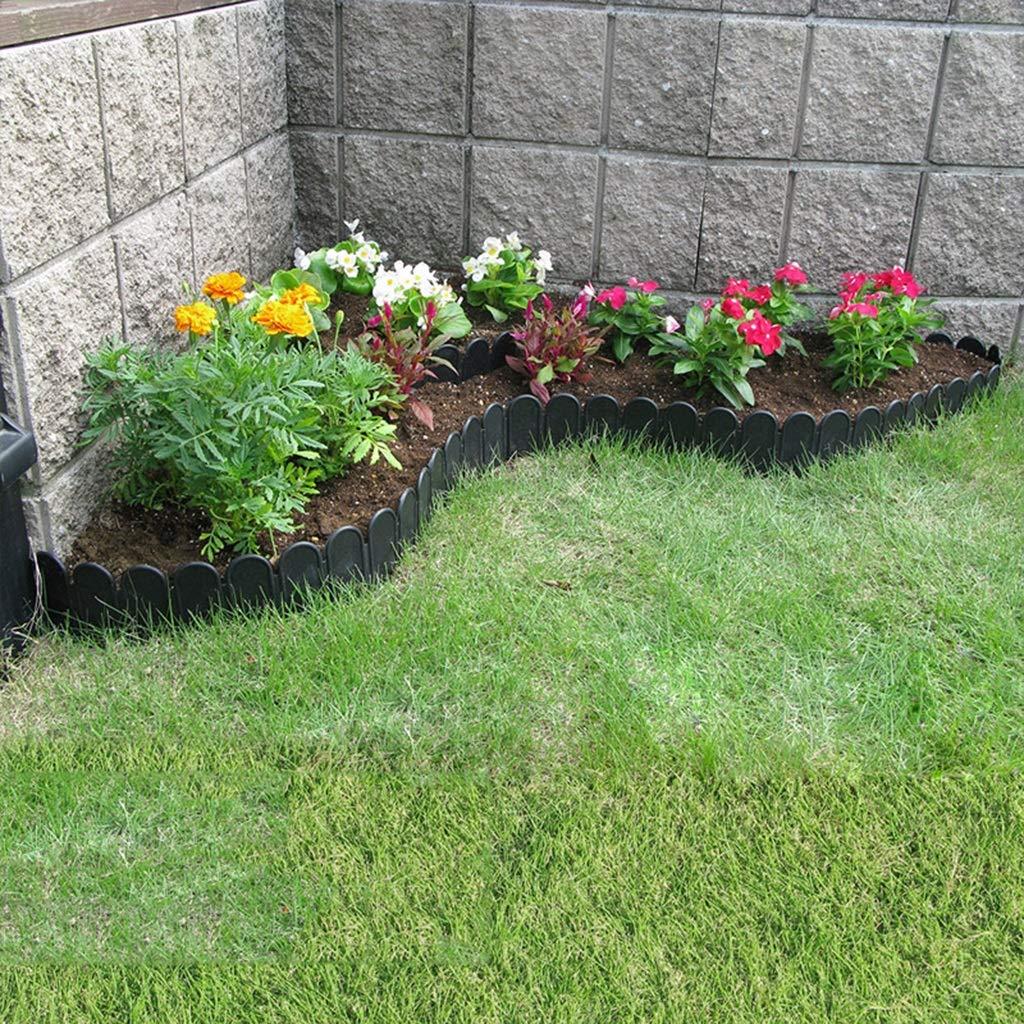LJFYMX Vallas de Madera Jardin Vallado para jardín/Piquete Curvo de plástico Vallado para jardín Negro/Borde para césped Decoración de diseño de Patio Familiar Vallas para Jardin: Amazon.es: Hogar