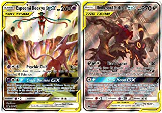 Pokemon Card Lot - Umbreon & Darkrai GX (SM241) - Espeon & Deoxys GX (SM240) - Alternate Full Art - Tag Team