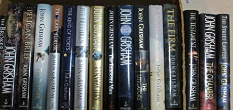 SET OF 10 JOHN GRISHAM HARDCOVER BOOKS: 1] THE CLIENT 2] THE RUNAWAY JURY 3] THE LAST JUROR 4] THE RAINMAKER 5] PLAYING FO...