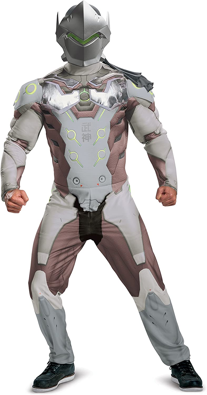 Disguise Men's Genji Muscle Adult Costume, Multi, L XL (4246)