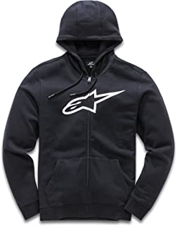 Alpinestars Men's Full Zip Hooded Sweatshirt Classic Fit 280 GSM Logo Fleece