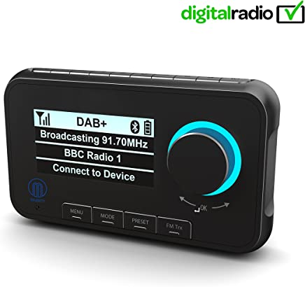 Majority Journey A10 In-Car DAB/DAB+ Digital Radio with Bluetooth Handsfree & Music Streaming, FM Digital Audio Adapter (Includes Fitting Kit, Mounts, Cables & Active Antenna)