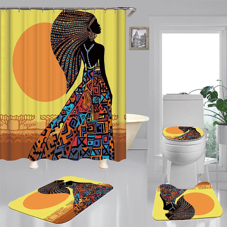 ZHEXI African Women Bohemian Flannel Popular Max 63% OFF Toilet Bath Mat Cover Carpe