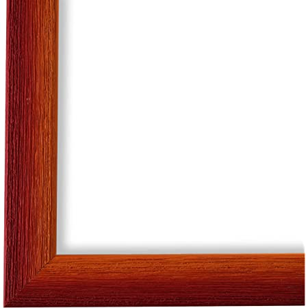 Top Qualität Bilderrahmen Wechselrahmen Modern Art Deco Rot gebeizt 14,0