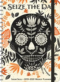 Sugar Skull 2019 - 2020 On-the-Go Weekly Planner: 17-Month Calendar with Pocket (Aug 2019 - Dec 2020, 5