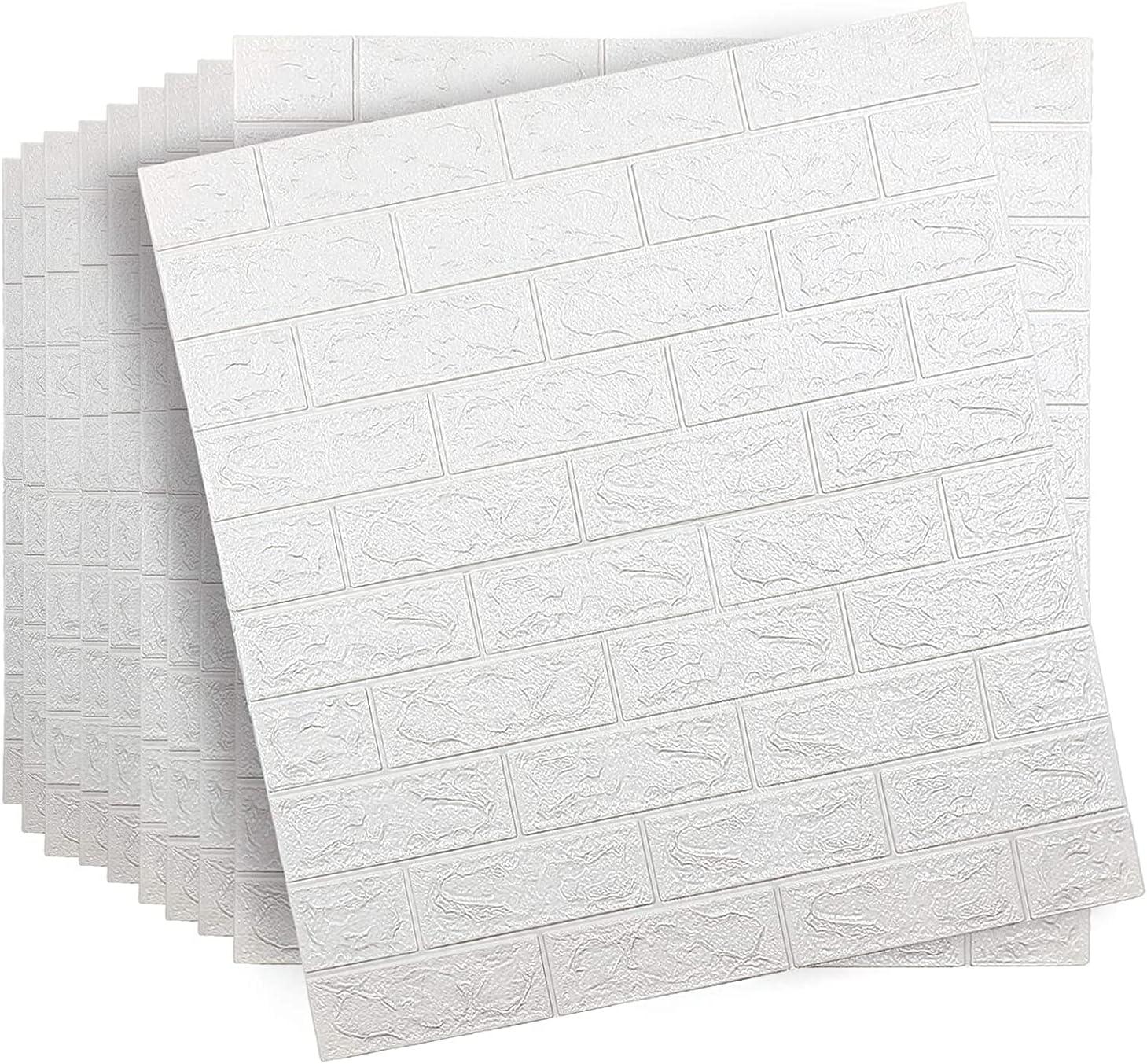 Super intense Philadelphia Mall SALE SHUKOES 10 Pcs 3D Self 77×70cm Wall Adhesive Tiles Brick