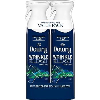 Downy WrinkleGuard Wrinkle Releaser Fabric Spray, Fresh, 2 Count, 9.7 fl oz Each