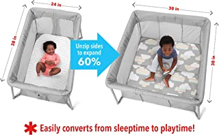 Skip Hop Portable Playard and Foldable Expanding Travel Crib/Playpen  Play to Night