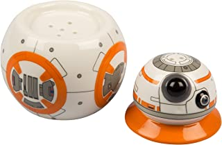 Star Wars: The Last Jedi BB-8 Ceramic Salt and Pepper Shakers - Stackable 2 Piece Set