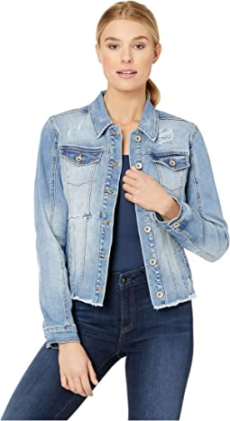 Denim Distressed Jean Jacket