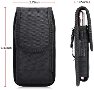 Nylon Pouch Cell Phone Holster for iPhone 8/SE2, kiwitatá Rugged Vertical Belt Clip Holster Case Pouch Holder for iPh...