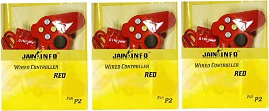 Jain Info™ Branded Pack of 3 PS 2 Wired Controllers for PS-2 Console -- Compatible With PS2(***Not Suitable for Mobile/PC/...
