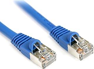StarTech.com 50 ft. (15.2 m) Cat5e Ethernet Cable - Patch Cable - Shielded - Blue - Ethernet Network Cable (S45PATCH50BL)