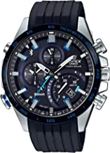 Casio Men's Edifice Stainless Steel Quartz Watch with Rubber Strap, Black, 22 (Model: EQB-501XBR-1ACF)