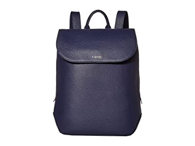 Lipault Paris Invitation Medium Laptop Backpack (Navy) Backpack Bags