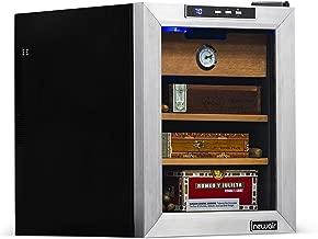 NewAir Cigar Humidor with 250 Cigar Capacity, Digital Cooler Includes Spanish Cedar Shelves, CC-100, Stainless Steel