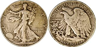 P D or S Walking Liberty Half Dollar (1/2) 90% Silver Grades Fine or better