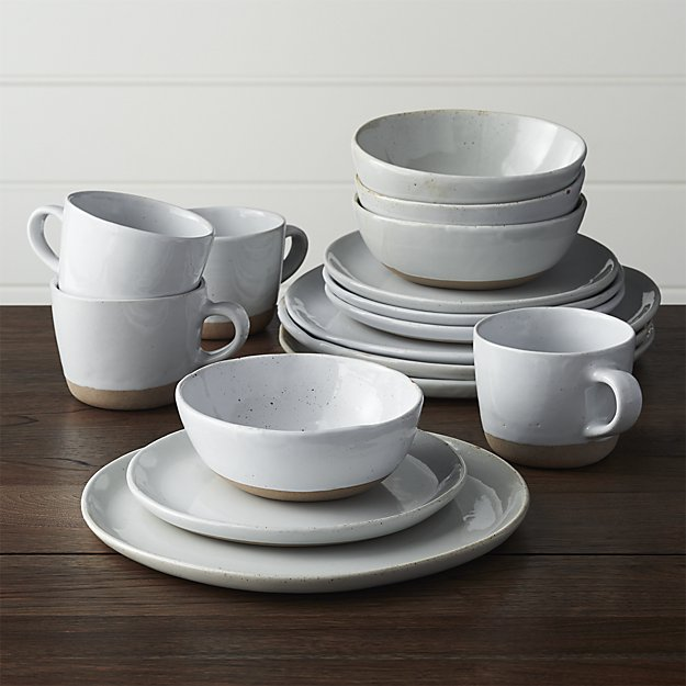Welcome 16-Piece Dinnerware Set | Crate and Barrel