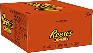 REESE'S Pieces Peanut Butter Candy, 1.5 Ounce (Pack of 18)