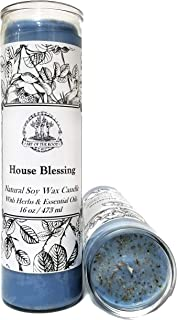 Art of the Root House Blessing 7 Day Soy Herbal & Scented Spell Candle Fixed for Good Fortune, Protection, Abundance & Well-Being Wiccan Pagan Conjure Hoodoo Magick