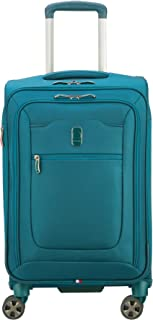 DELSEY Paris Hyperglide Softside Expandable Luggage with Spinner Wheels, Teal Blue, Carry-on 21 Inch